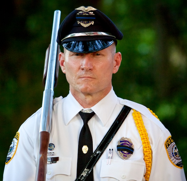 A GPD Officer in his Honor Guard uniform
